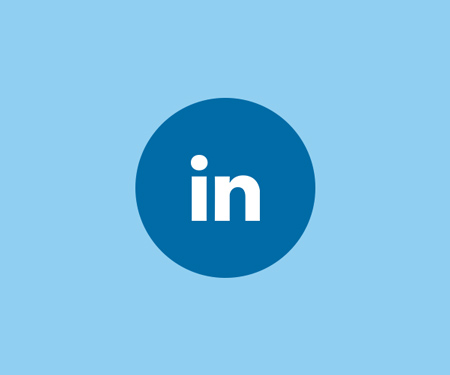 LinkedIn icon in Kaiser Permanente's corporate colors, the below which leads to Kaiser Permanente's LinkedIn page.