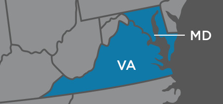 Locations in Maryland, Virginia, & DC