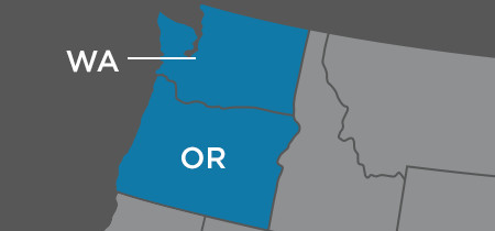 Locations in Oregon & Washington
