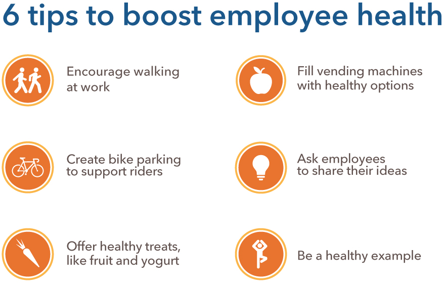6 tips to boost employee health